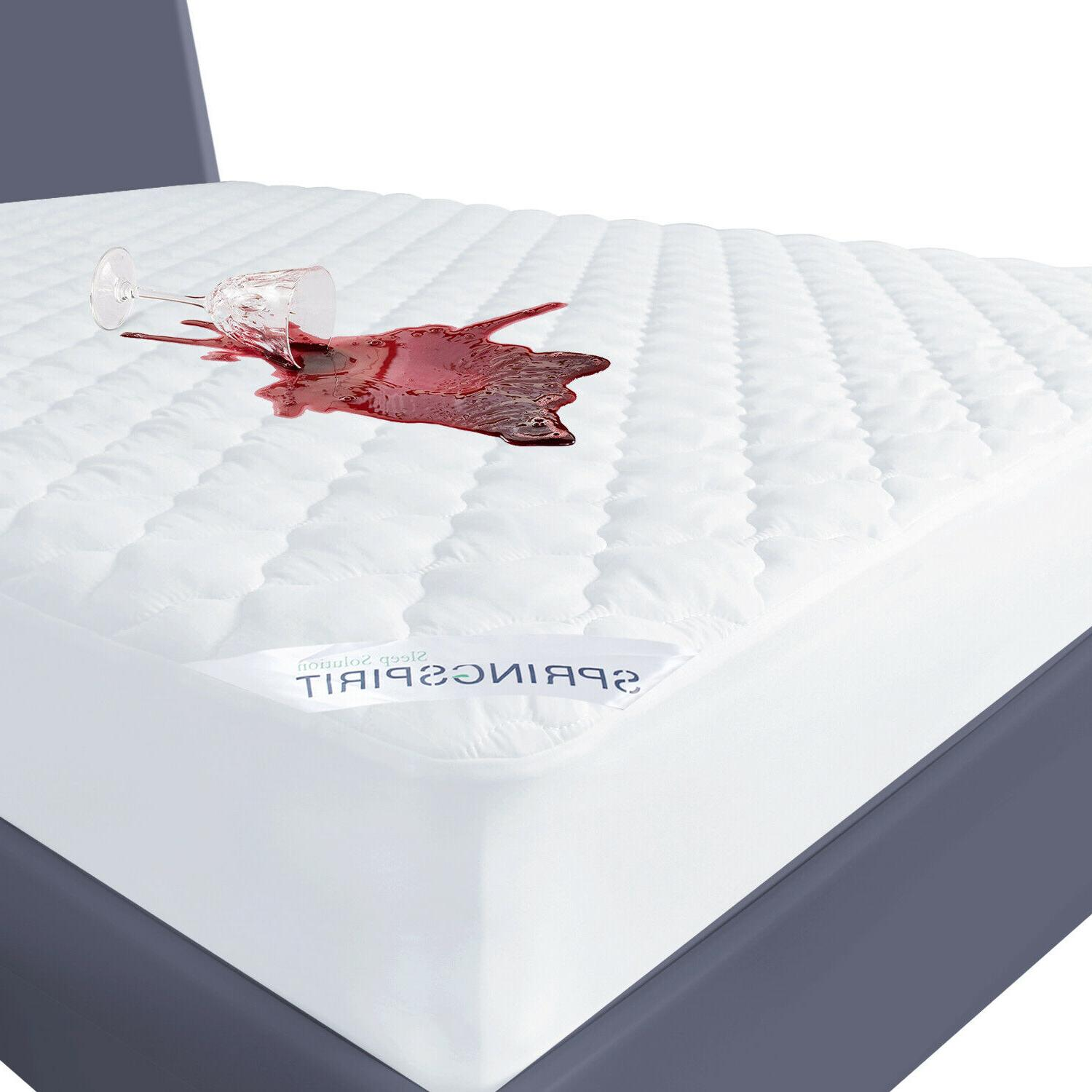 waterproof quilted mattress cover pad protector fitted