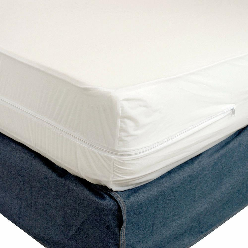 Waterproof Zippered Bed Dust Mites cover Vinyl