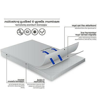 Zippered Mattress Protector Bed Proof Hypoallergenic