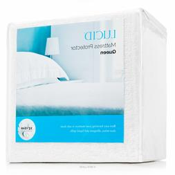 LUCID Ultra Soft Cotton Mattress Protector - 100% WATERPROOF