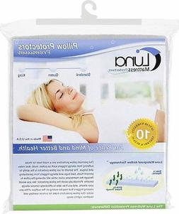 Luna Bed Bug Waterproof Pillow Protector Made In USA