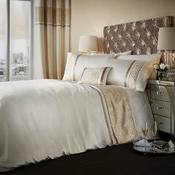 Catherine Lansfield Luxury Luxor Jacquard Satin Look Quilt D