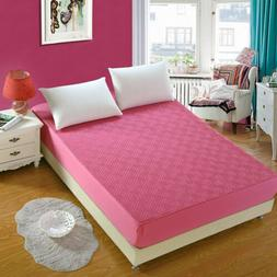 Mattress Cover Bed Protector Full Queen 100% Cotton Solid Fi