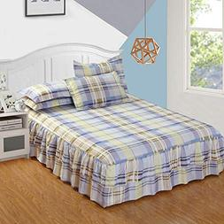 LVYING Fashion Mattress Cover Bedspread Colorful Bed Skirt T