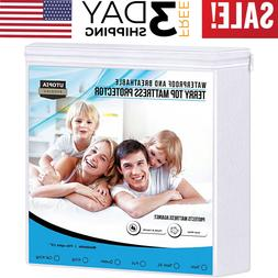 Mattress Cover Protector Bed Waterproof Pad Fitted Twin Quee