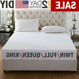Mattress Cover Protector Waterproof Pad Twin/Full/Queen/King