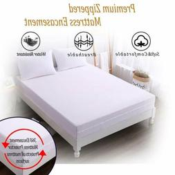 Mattress Cover Protector Waterproof Pad Zipper Encasement Bu