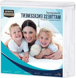 Mattress Encasement Cover Waterproof Zippered Bed Bug Proof