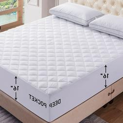 Mattress Pad Deep Pocket Cooling Breathable Topper Fitted Ma
