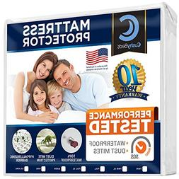 MATTRESS PROTECTOR COVER BY CUSHYBEDS WATERPROOF HYPOALLERGE