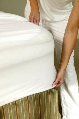 Linen Soft Mattress Protector -QUEEN- 100% Waterproof & Dust