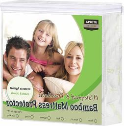 Waterproof Bamboo Mattress Protector Fitted Mattress Cover U