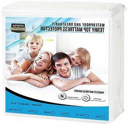 Mattress Protector Waterproof Breathable Pad Bed Bug Cover T