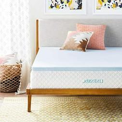 Mattress Topper Gel Infused Memory Foam Bed Protector Cover