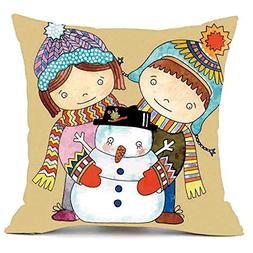 Merry Christmas Pillows Cover Decor Pillow Case Sofa Waist T