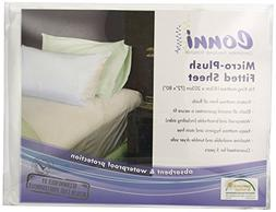 Conni Micro-Plush Fitted Sheets, White, King
