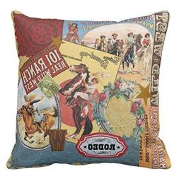 Cap shorts Modern Vintage Western Cowgirl Pillow Cover, 18 x