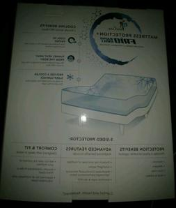 New Purecare Frio 5-Sided White Mattress Protector QUEEN