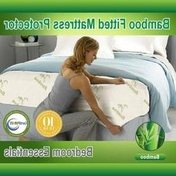 New Mattress Protector Waterproof Bamboo Soft Hypoallergenic