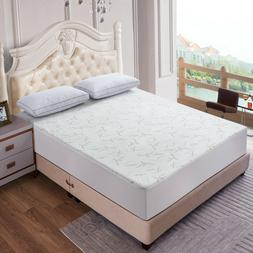 Waterproof Bamboo Quilted Mattress Pad Protector Hypoallerge
