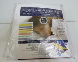 NIB THE PLATINUM MATTRESS PROTECTOR QUEEN SIZE WATERPROOF DU