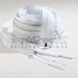 #5 Nylon Coil Separating Zipper, Medium Weight, Extra-Long,