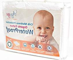 Agugu Certified Organic Cotton Crib Mattress Protector - Abs
