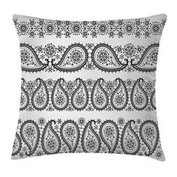 Paisley Decor Throw Pillow Cushion Cover, Winter themed Desi