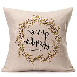 PENGYGY Happy Fall Thanksgiving Day Soft Linen Pillow Case C