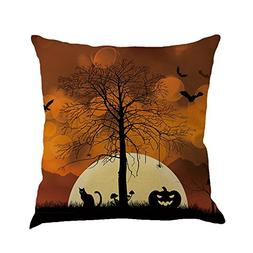PENGYGY Happy Halloween Pillow Cover Linen Cushion Cover Cus