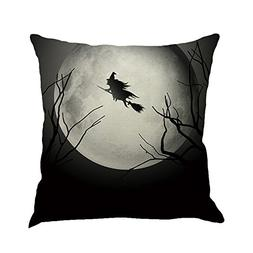 PENGYGY Happy Halloween Pillowcase Linen Sofa Cushion Cover