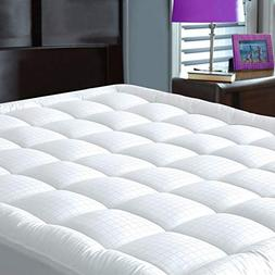 JURLYNE Pillowtop Mattress Pad Cover King Size - Hypoallerge