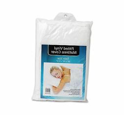 Plastic White Twin Size Mattress Cover Protector Vinyl Sheet