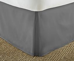 ienjoy Home, Pleated Bed Skirt, California King, Gray