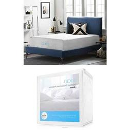 LUCID 16 Inch Plush Gel Memory Foam and Latex Mattress - Fou