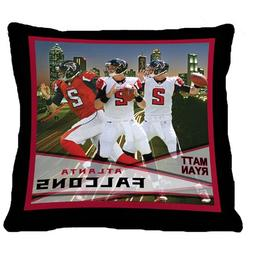 Biggshots Polyester Action Sport Toss Pillow Team: Atlanta F