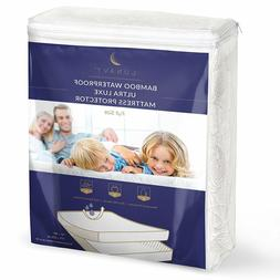 ▶ Premium Bamboo Waterproof Mattress Protector Full Size M