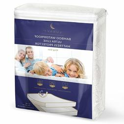 ▶ Premium Bamboo Waterproof Mattress Protector King Size M