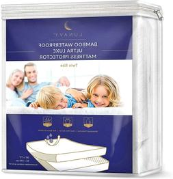 ▶ Premium Bamboo Waterproof Mattress Protector Twin Size M