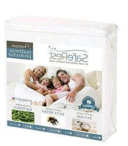 SafeRest Premium Hypoallergenic Waterproof Mattress Protecto
