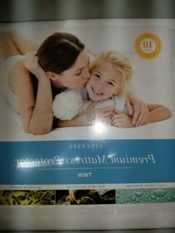 LINENSPA Premium Smooth Fabric Mattress Protector   100% Wat