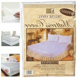 QUEEN SIZE VINYL ZIPPERED MATTRESS COVER WATERPROOF ALLERGY