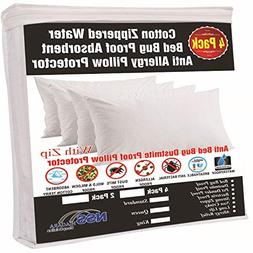 100/% Waterproof Mattress Protector and 1 Free Pillow Protector by Everlasting Comfort Complete Set Twin XL Breathable Membrane Hypoallergenic