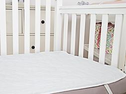 TILLYOU Quilted Crib Mattress Pad Cover, 3 Layers Waterproof