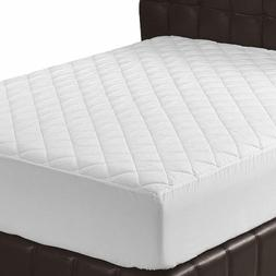 Quilted Fitted Mattress Pad  Cover Stretches up to 16 Inches