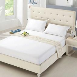 Quilted Mattress Protector Pad Topper Cover 100% Polyester F