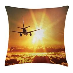 shower&home Scenery Decor Throw Pillow Cushion Cover, Aeropl