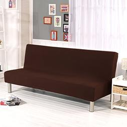 WATTA Solid Color Futon Cover Slipcover Couch, Polyester Spa