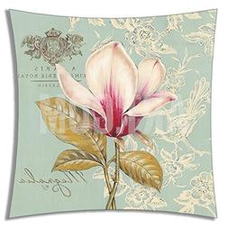 Lumimi Square Decorative Throw Pillow Case Cushion Cover Flo