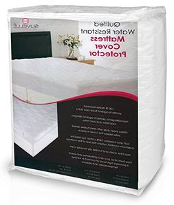 Suvelle Hypoallergenic Water Resistant Mattress Pad Cover Pr